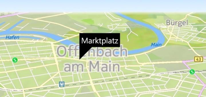Map Control für Windows Phone 8